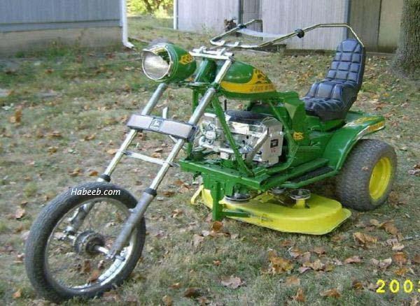 Funny redneck mower motorcycle (funny pics